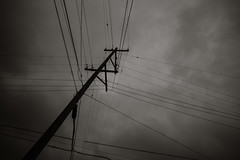 Recover (Jeremy Brooks) Tags: bw blackwhite blackandwhite california clouds contracostacounty elcerrito stormy usa wires