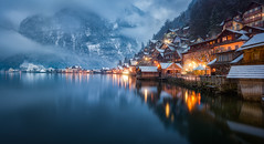 Hallstatt Residential (hpd-fotografy) Tags: alpen alps austria christmas hallstatt unesco blue bluehour cold dramatic lake landscape light mountain nature outdoor reflection winter worldheritage österreich