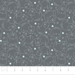 C-0244 Camelot Cotton Bonne Nuit Bear Constellation in Iron (MyLittlePoppySeed) Tags: c0244 camelotcotton bonnenuit collection camelot mylittlepoppyseed cotton fabric tissu bearconstellation iron grey gray blue white bleu gris blanc bears stars circles sky animals ours étoiles ciel cercles animaux