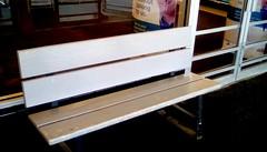 Kmart bench - HBM (Maenette1) Tags: kmart bench white entrance doors menominee uppermichigan happybenchmonday flicker365