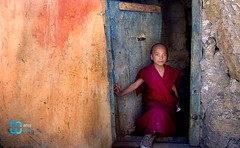 Lama of Key (manuj mehta) Tags: monastery monks spiti valley incredible india people red robe buddhist tibetian young kaza kalpa himachal pradesh himalayan ranges photography lonely planet travel unexplored discover amazingshot amazing peace key dhankar gompa