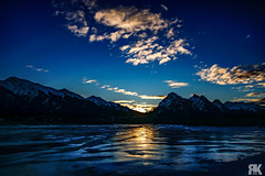 Abraham Lake Sunrise (ryan.kole32) Tags: abrahamlake sunrise winter ice snow frozen banff banffnationalpark jasper jaspernationalpark nationalpark reflection sony sonya77 teamsony landscape nature beauty beautyinnature travel outdoors hiking bluesky clouds colourful colorful peaceful calm tranquil