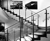 stair of steel & glass (rainerralph) Tags: stairs glass schwarzweiss deutschland nuernberg architcture architektur stair omdem1markii germany bavaria blackandwhite steel bayern stairway treppe