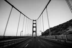 GG Drive-2 (mteckes) Tags: nikon d800e sanfrancisco 1635f4 monochrome blackandwhite bw goldengatebridge goldengate bridge