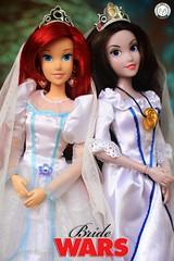 Bride Wars: Ariel vs. Vanessa (PrinceMatiyo) Tags: disneystore wedding doll toyphotography disneyprincess disney thelittlemermaid ariel ursula vanessa