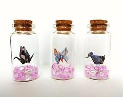 Origami gru, farfalla, elefante segnaposto _ grandezza 3*5 cm (leti.zacca) Tags: fattoamano origamiart origami pesci handmade creazione bottiglietteinvetro segnaposto farfalla butterfly elefante elephant gru