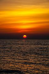 Ra (Tony Shertila) Tags: 20170420185534 fécamp normandie france europe normandy beach coast cliff chalk outdoor sunset goldentime sea englishchannel sun star sky orb fra