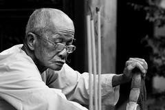 . (Out to Lunch) Tags: monk tomb mausoleum saigon ho chi minh city vietnam blackwhite monochrome portrait religion buddhism incense fuji xt1 1256mm