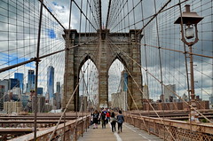 NYC Brooklyn Bridge (gerard eder) Tags: world travel reise viajes america usa unitedstates northamerica newyork city ciudades städte cityscape cityview brooklynbridge bridges brücken puentes outdoor manhattan