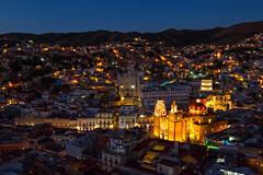 Guanajuanto de Noche (wegstudio) Tags: mexico city streets architecture arquitectura buildings guanajuato gto nightshot night