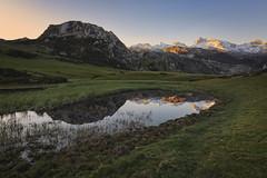 The light at your feet (explore) (Rafael Díez) Tags: españa asturias covadonga lago paisaje rafaeldíez amanecer filtro reflejos montañas agua ercina