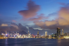 Victoria Harbour ([~Bryan~]) Tags: victoriaharbour hongkong bluehour skyscraper cityscape urbanlandscape sky sea building ifc longexposure night afterdark sunset