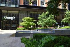 Google It (dhcomet) Tags: london office block building pancras square google tech water feature
