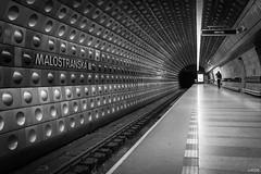 Malostranska (Julien Rode) Tags: city métro nb personnage portfolio prague rue street urban ville