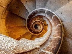 To the end / Jusqu'à la fin (M. Carpentier) Tags: barcelona barcelone stairs escaliers escalier calimaçon tour tower circle cercle segradafamilia pierre courbes