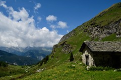 (Giramund) Tags: graubünden avers alp june clouds alpinehut mountains alps hut switzerland hiking