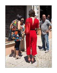 In red n. 4 (Franco & Lia) Tags: street fotografiadistrada photographiederue luras sardegna sardinia rosso red rouge woman bag shoes