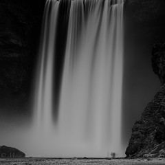 Shower (Mika Laitinen) Tags: bw canon5dmarkiv europe iceland leefilters skógafoss skógar landscape longexposure mountain nature outdoors river rock water waterfall southernregion is