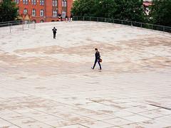 Public Space (danielfoster437) Tags: pedestrianwalkway fujifilmgfx50s moderndesign szczecin plaza modernarchitecture publicspace modernstyle fujigfx50s minimalist walkway stoneplaza gfx50s poland