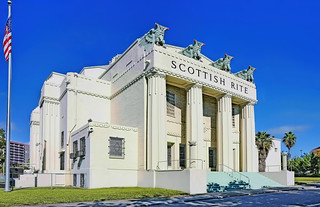 Scottish Rite Temple, 471 NW 3rd Street, Miami, Florida, USA / Architect: Kiehnel & Elliott /  Date of Construction: 1922-1924 / Architectural Style: Art Deco