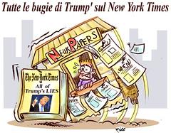 """NY-Trump-Graffio (Moise-Creativo Galattico) Tags: editoriali moise moiseditoriali """"editorialiafumetti"""" giornalismo attualità satira vignette trump times"""