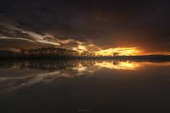 Sunset (Stéphane Sélo Photographies) Tags: france hiver paysage pentax pentaxk3ii saã´ne clouds coucherdesoleil eau landscape nuages reflection reflexion sunset hdr saône