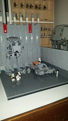WIP Imperial Base (影Shadow98) Tags: lego star wars imperial base empire stormtrooper atst grand admiral