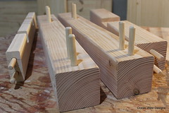 Proven joinery techniques. Building a farmhouse table and bench for a customer in Atlanta using dowel joinery. This technique has been used for many centuries. One of the earliest documented uses of wooden dowels was in Japanese shrines in AD 690. (Ocean West Designs) Tags: woodjoinery woodendowels farmhousefurniture rusticfurniture farmstyletable farmhousebench woodbench harvesttable farmhouseliving farmhousetable woodtable customwoodwork customwork farmtable kitchentable atlantainteriors decoratingideas finewoodworking wooddesign diningtable woodworker customfurniture woodcraft craftsmanship rusticdecor carpenter designing smallbusiness entrepreneur furniture