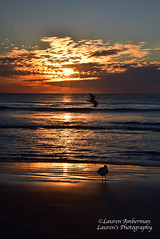 Parting Clouds (lauren3838 photography) Tags: laurensphotography lauren3838photography seascape beach ocean atlanticocean sand surf seagulls clouds sunrise diamondbeach newjersey nj jerseyshore catchycolorsorange nikon waterscape fx d750 tamron2875 ilovenature nature