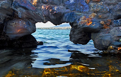 windows   to travel the glance (mare_maris (very slow)) Tags: view window rockwindow rocks rockformation mediterraneansea sea rock stones architecture arch greece kavouri vouliagmeni wideness nature tourism holidays mountains beach landscape seascape waterscape photoborder colorful vivid lookingthrough aquatic sky summer weather day light reflections windy waves waterfront water seafront arid erosion cityscape destination beautiful formation geology scenery scenic hole travel tourist coastline sun textures bigrocks horizon blue green territory maremaris nikon vista finestradiroccia rocce finestra mare vue fenêtre mer greeksummer seethrough