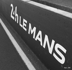 Mythique (ajh_1990) Tags: le mans 24h 24 pits pit wall logo writing black white monochrome mythique bw circuit de la sarthe
