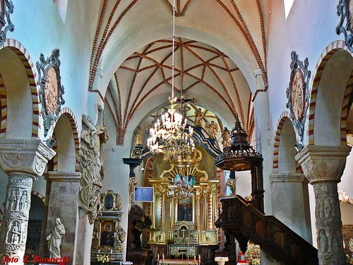 Strzelno - interior of Church of the Holy Trinity and the Blessed Virgin