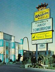 Stovall's Inn of Tomorrow Anaheim sign (hmdavid) Tags: anaheim motel sign design disneyland stovalls innoftomorrow plastic 1960s 1970s googie space