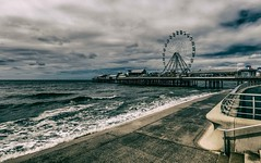 Blackpool Pier (Andrew Gibson.) Tags: lancashire sonya7ii sonyilce7m2 blackpool seagull pier sea tonal toneimage