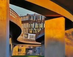 Urban Slalom (mikkelfrimerrasmussen) Tags: metro metroen københavn copenhagen subway underground sunset goldenhour