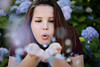 Fluff. (alvxphotography) Tags: senior pretty beautiful portraits summer teenager teen girl woman women brunette glowing bokeh sunset mysterious dark light vacation edit photography photoshop glitter flower flowers petals