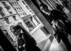 Arcade (Henka69) Tags: street people streetphoto arcade milano candid monochrome