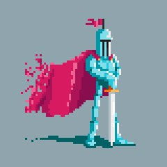 Day 193: Veteran Pixel Knight (ChrisKoelsch) Tags: pixel bit 8bit 16bit videogame game sprite character illustrator illustration design graphic knight medieval