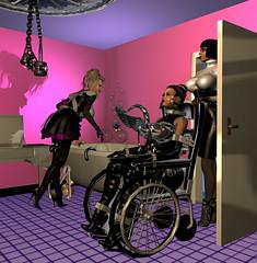 THE BATH IS READY (bigbertha666) Tags: doll mask corset bondage poser fetish rubber sissy maskedface spielzeug sextoys gloves lack plastic fetishfashion