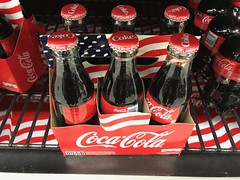 Coke 6 pack (traveling around) Tags: cocacola 6pack coke carrier bottle store shelf red uso