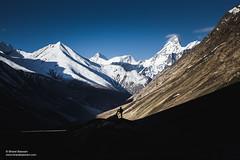Batal, Himachal Pradesh (Bharat Baswani) Tags: batal himachal mountains himalayas snow peaks lahaul human silhouette landscape