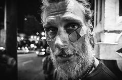 R0050412 (G. L. Brown) Tags: bandaid broadway face homeless james portrait nashville nashvillestreetphotography streetphotography blackandwhite bw