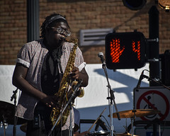 Funk Worthy Sax (tim.perdue) Tags: comfest 2017 summer community festival goodale park short north columbus ohio wish you jazz stage funk worthy band group ensemble live music performance concert sax saxophone woodwind tenor dont walk sign hand 4 musician