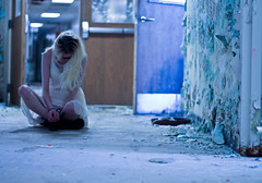 You never knew. (Deathexit12) Tags: girl danielle model rockford illinois abandoned building dress summer blonde self portrait selfportrait