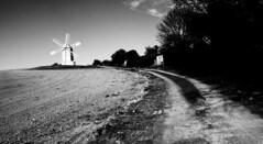 Road to the mill (Ashley Beavan) Tags: downs brighton uk road wind mill black white field