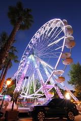 Le Lavandou Wheel (Richard D Porter) Tags: canon tokina1116f28 tripod france palmtrees bigwheel bluehour lights