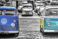 Splitty or Not Spitty? 183/365 (rmrayner) Tags: vwmicrobus camper hdr selectivecolourpop carpark volkswagen 365project 365the2017edition sliderssunday oldschool surftrip hss veedub 183365