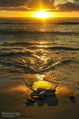 Ripples (Dreamcatcher photos) Tags: sunlight sunset suiderstrand southafrica pebbles ocean ripples