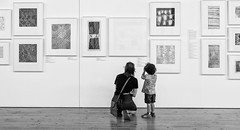 Appreciating Art 032 (Explore - 10 July, 2017 - #091) (Peter.Bartlett) Tags: bag noiretblanc women art australia city olympuspenf boy lunaphoto people urban victoria candid urbanarte m43 microfourthirds streetphotography bw peterbartlett wall blackandwhite niksilverefex monochrome castlemaine au explore