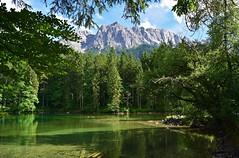 Bergsee am Fuße der Zugspitze (chrissie.007) Tags: deutschland bayern oberbayern grainau badersee zugspitze bergsee garmischpatenkirchen